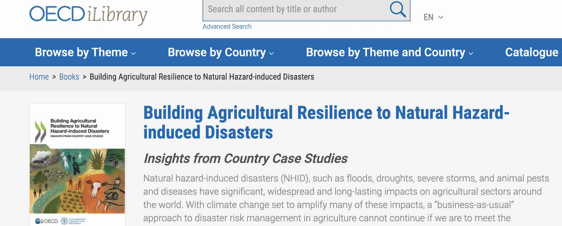 OECD report banner